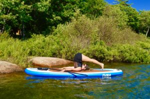 Plow Pose, Halasana, SUP Yoga, Paddle board, Paddleboarding, Stand up paddle