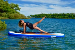 Upward Plank with Leg Lift, SUP Yoga, Paddle board, Paddleboarding, Stand up paddle