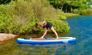 Pyramid Pose, Parsvottanasana, SUP Yoga, Paddle board, Paddleboarding, Stand up paddle