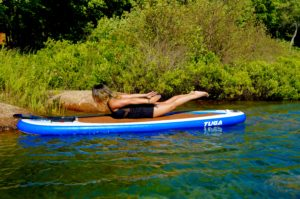Locust Pose, Salabhasana, SUP Yoga, Paddle board, Paddleboarding, Stand up paddle
