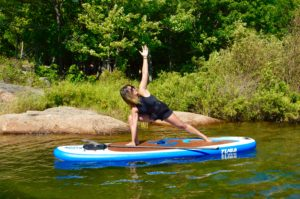 Extended Side Angle, SUP Yoga, Paddle board, Paddleboarding, Stand up paddle