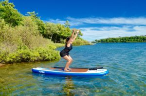 Chair Pose, Utkatasana, SUP Yoga, Paddle board, Paddleboarding, Stand up paddle