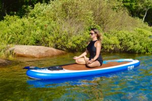 Lotus Pose, Padmasana, SUP Yoga, Paddle board, Paddleboarding, Stand up paddle